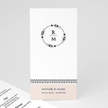 Achat menu mariage couronne boho