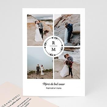 Remerciement mariage photo - Couronne Boho - 0