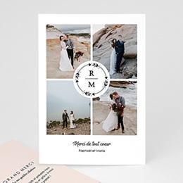 Remerciement mariage photo Couronne Boho