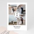 Carte Remerciement Mariage Photo Couronne Boho