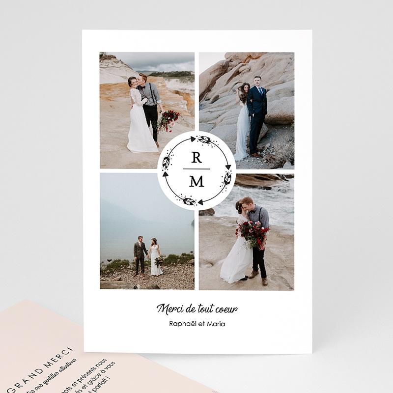 Remerciement mariage photo - Couronne Boho 69739 thumb