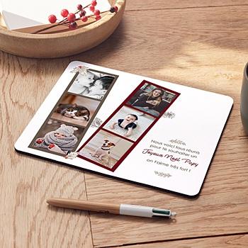 Tapis de souris personnalisé - Noel Rétro - 0