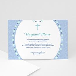 Remerciements Baptême Garçon - Chapelet Bleu - 3