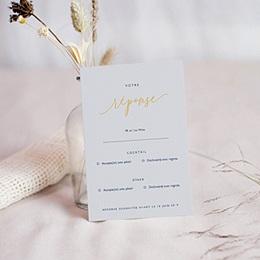 Carton réponse mariage Modern Minimalist