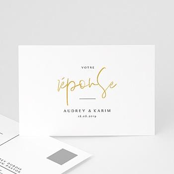 Carton réponse mariage - On se marie - 0