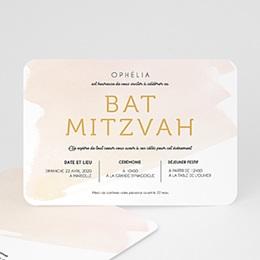 Faire-Part Bar Mitzvah Eau de Rosée