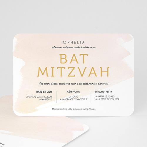 Faire-Part Bar-Mitzvah Eau de Rosée
