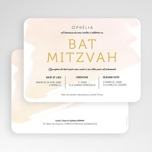 Faire-part bar-mitzvah Eau de Rosée gratuit