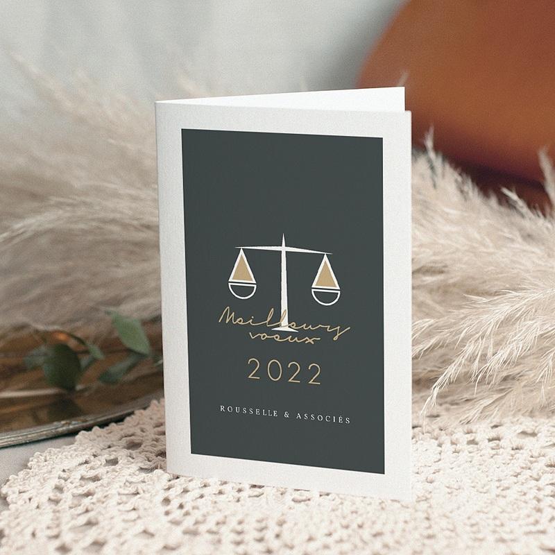 Carte de Voeux Professionnelle - Justitia Double 69899 thumb