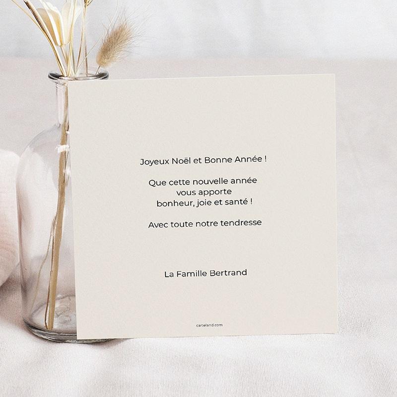 Carte de Voeux Meilleurs voeux calligraphie pas cher