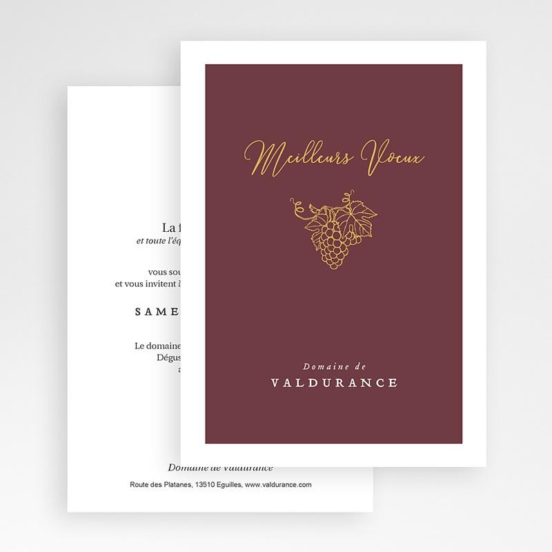 Carte de voeux entreprise Vignoble Grenat gratuit