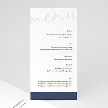 Menu de Mariage - Blue Color Touch - 0