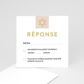 Création carton réponse bar mitzvah torah réponse