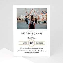 Faire-part bar-mitzvah Mini Star