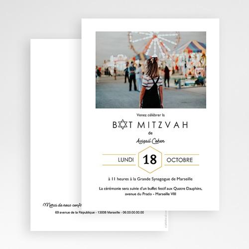 Faire-Part Bar-Mitzvah Mini Star gratuit