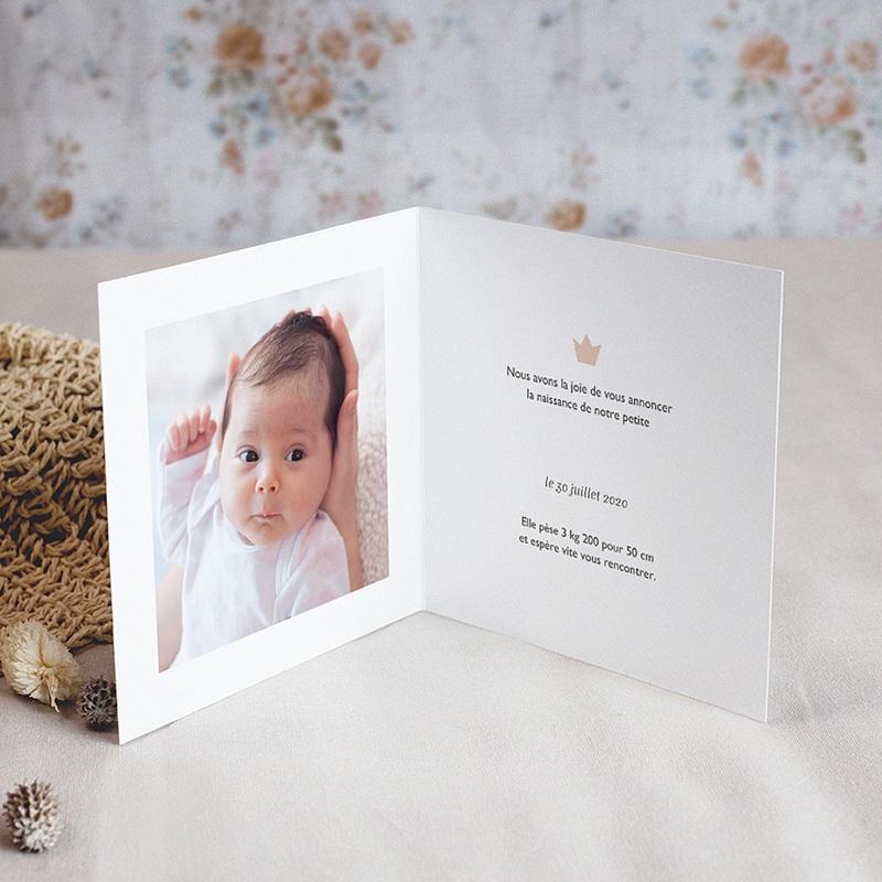 Faire-Part Naissance Fille - Douce Nuée 70100 thumb
