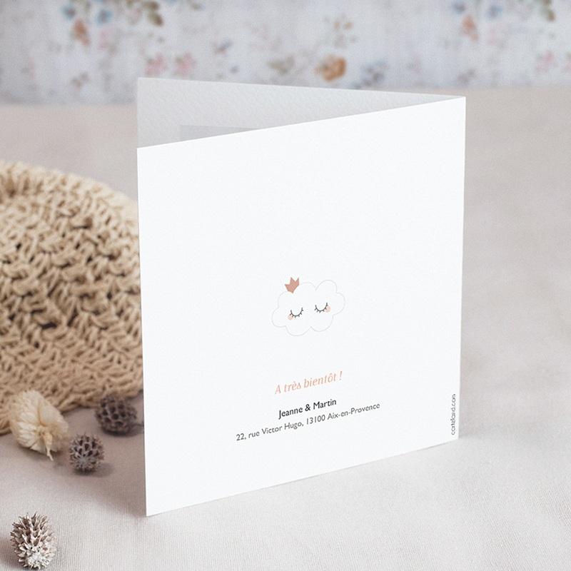 Faire-Part Naissance Fille - Douce Nuée 70101 thumb