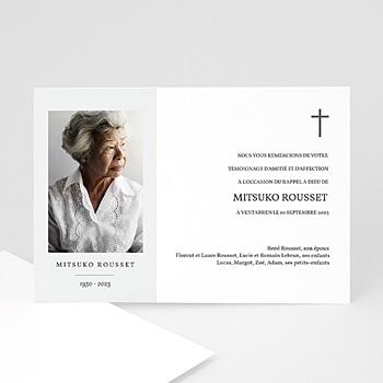 Cartes Remerciements Décès - Photo Souvenir - 0