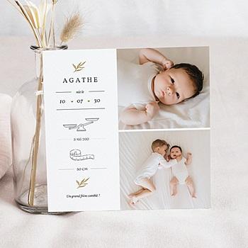 Faire-part naissance fille Jolie Pousse