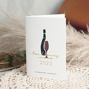 Carte de voeux entreprise champagne pas cher