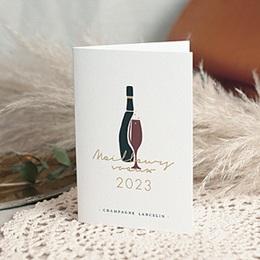 Carte de voeux entreprise Champagne