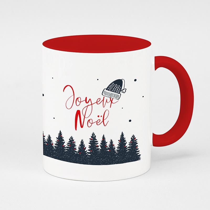 Mug Personnalisé Noël Forêt de Sapins