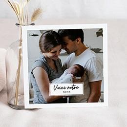 Faire-part naissance photo La voici