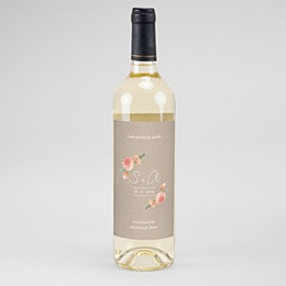 Étiquette bouteille mariage vin Champêtre Chic