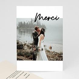Carte remerciement mariage photo Mastic Majestic