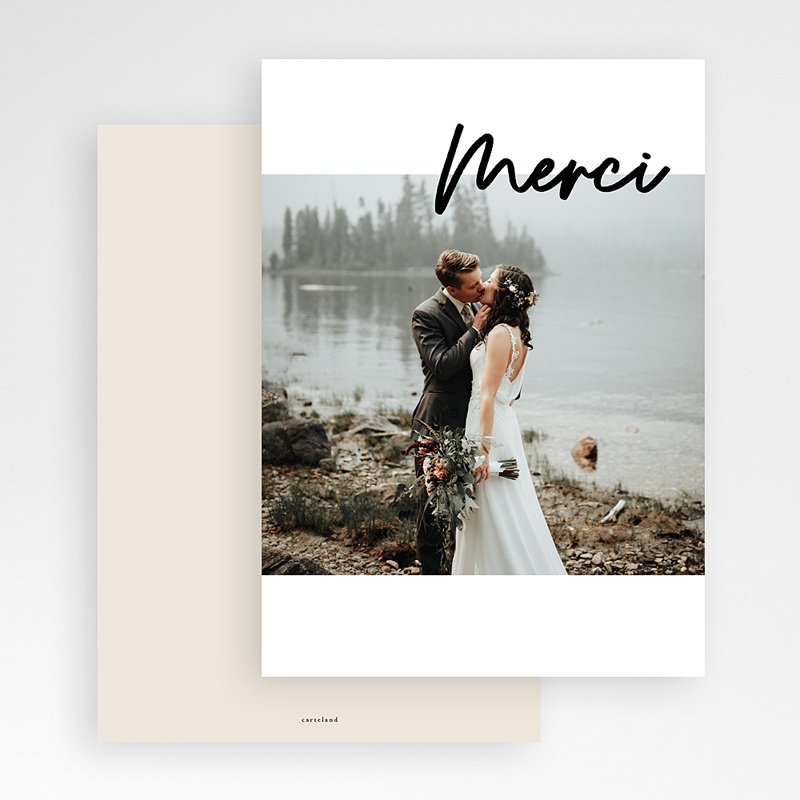 Remerciement mariage photo - Mastic Majestic 70556 thumb