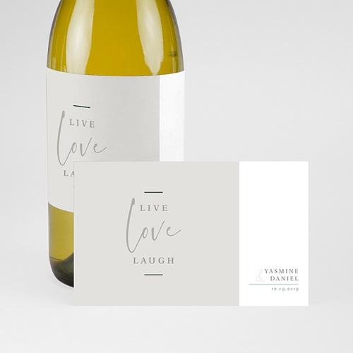 Etiquette bouteille mariage Live, Love, Laugh pas cher
