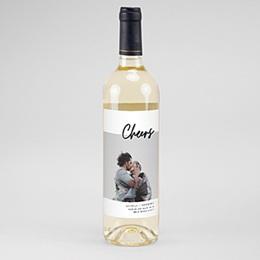 Étiquette bouteille mariage vin Mastic Majestic