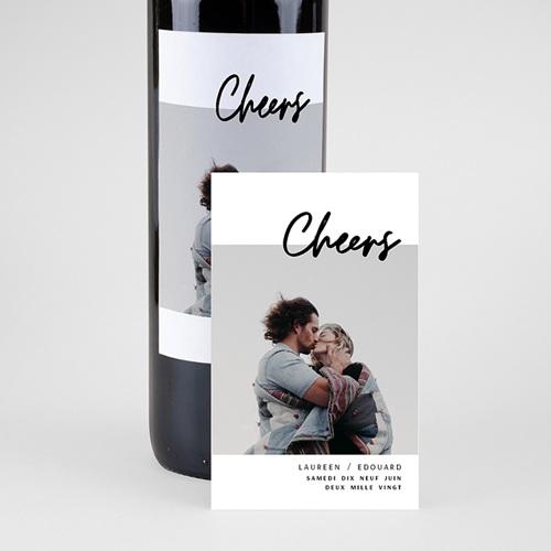 Étiquette bouteille mariage vin Mastic Majestic pas cher