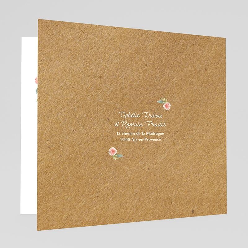Faire-Part Mariage Kraft Couronne florale gratuit