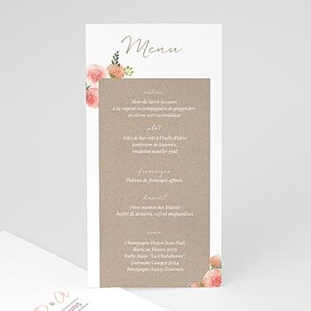 Création menu mariage champêtre chic