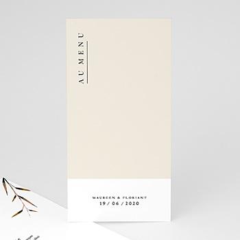 Création menu mariage champêtre epuré