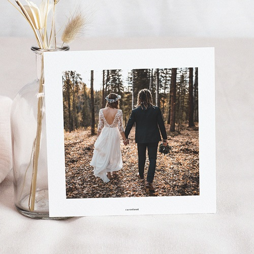 Carte Remerciement Mariage Champêtre Champêtre Epuré pas cher
