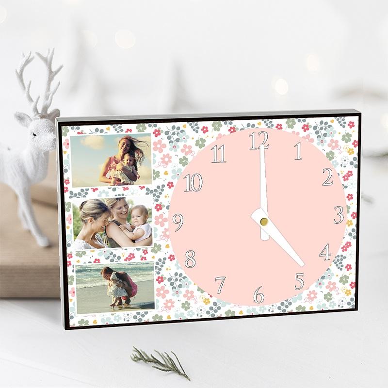 Horloge Personnalisée Photo Fête printanière pas cher