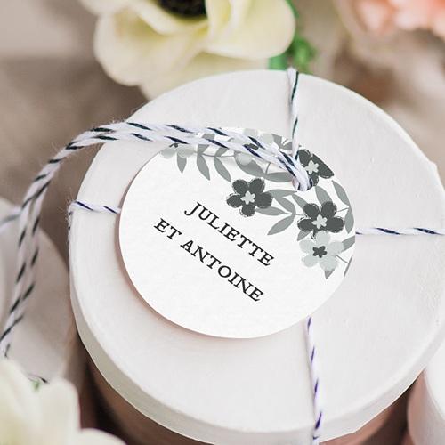 Etiquette Cadeau Mariage Anémones gratuit
