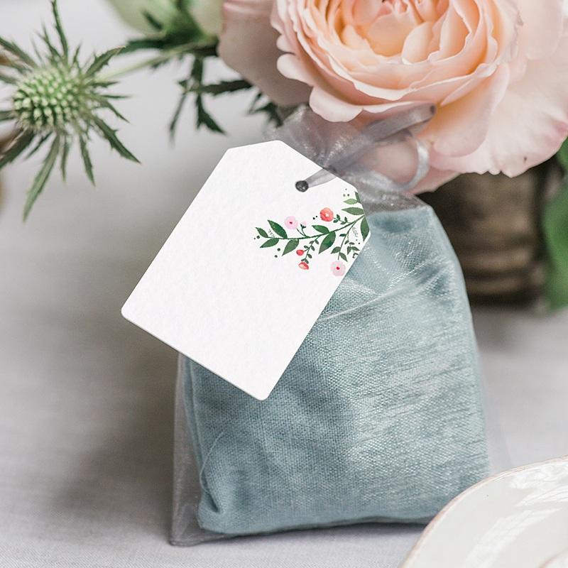 Etiquette Cadeau Mariage Fleurs d'été gratuit
