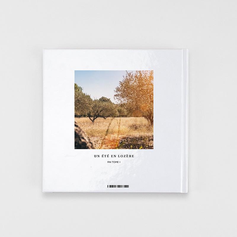 Livre Photo Carré 20 x 20 Douceur blanche pas cher