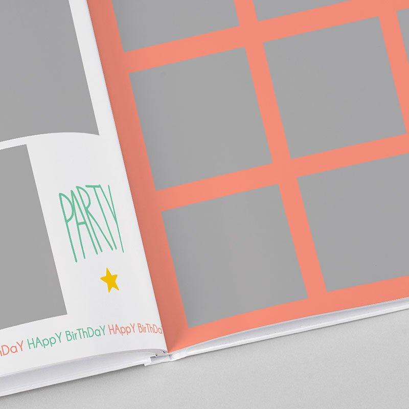 Livre-Photo Carré 30 x 30 Anniversaire Coloré