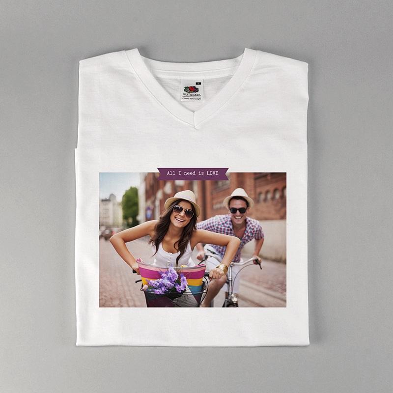 Tee-Shirt Personnalisé Photo Créé par Moi-même