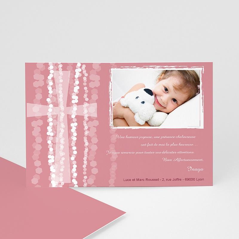 Carte Remerciement Baptême Fille Merci Inaya