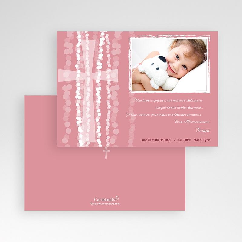 Carte Remerciement Baptême Fille Merci Inaya pas cher