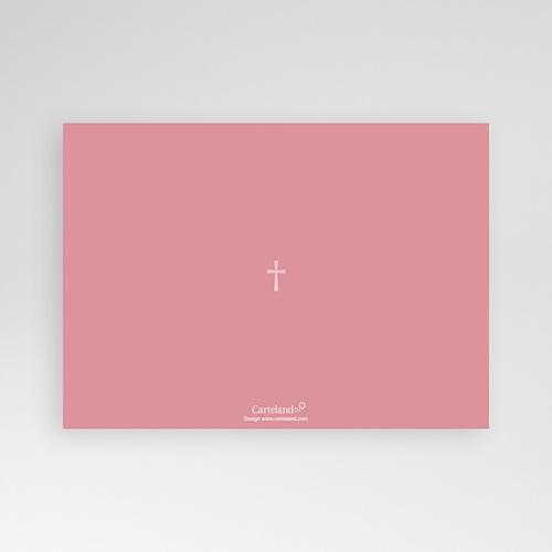 Faire-part Baptême Fille - Croix Contemporaine Rose 7116 preview