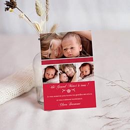 Carte remerciement naissance fille Rubis