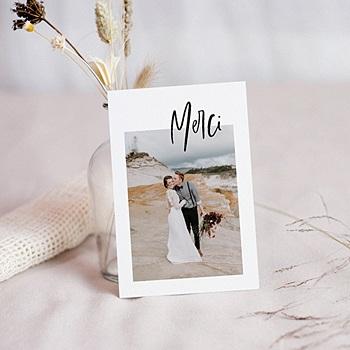 Créer soi même carte remerciement mariage créatif effet brush
