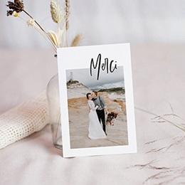 Carte remerciement mariage créatif Effet Brush