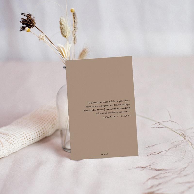 Carte Remerciement Mariage Créatif Effet Brush pas cher